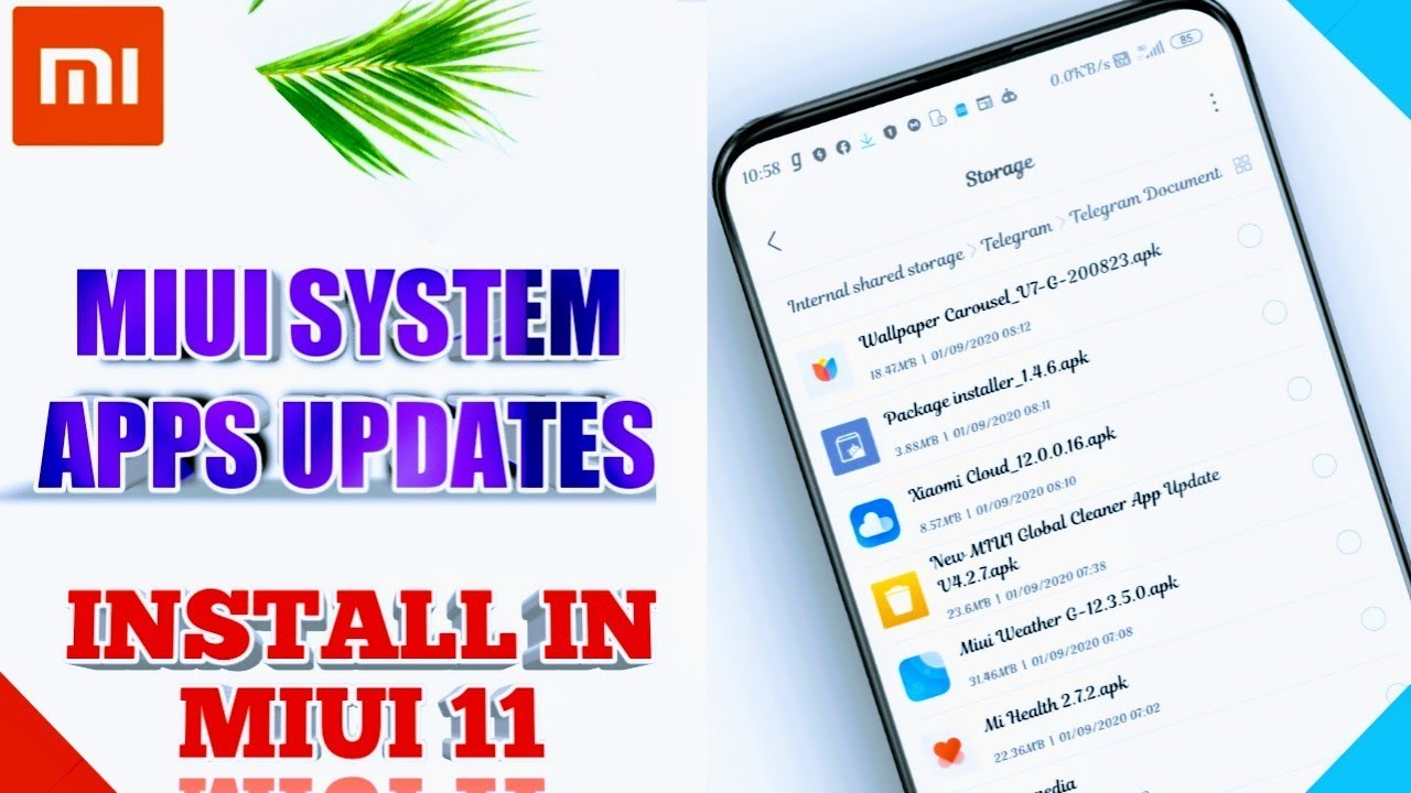 Miui System Apps Updates Get Miui 12 Apps In Miui 11 Package Installer Weather September 1 2020 Youtube