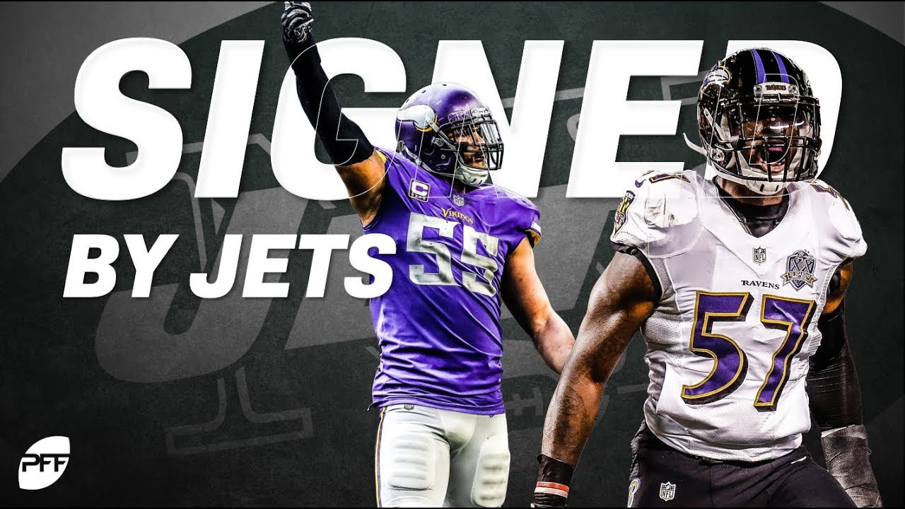 New York Jets Sign CJ Mosley & Anthony Barr | PFF YouTube  for sale