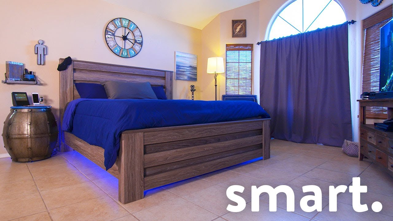 Epic smart home bedroom tech tour youtube - Image for bed room ...