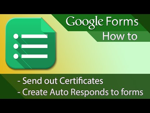 Google Forms - Tutorial 02 - Auto Responses or Certificates