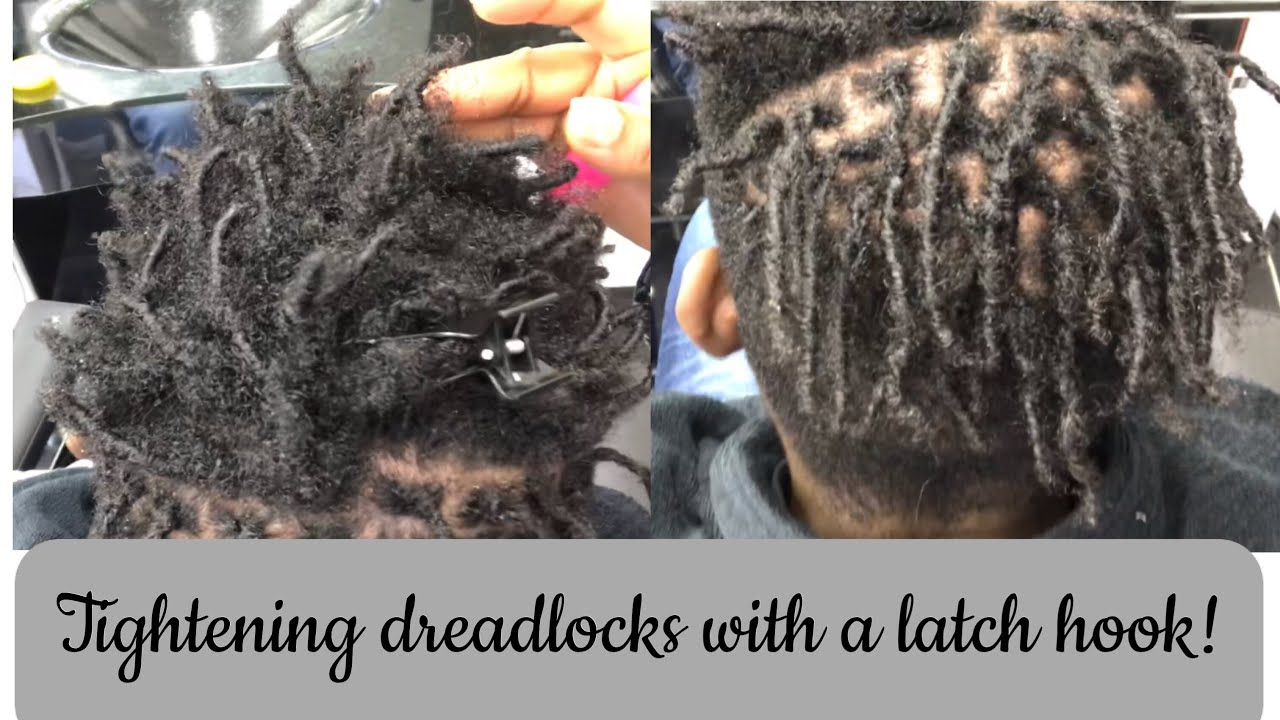 How To Retwist Dreadlocks With Crochet Latch Hook Youtube