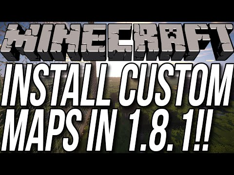 How To Download & Install Custom Maps In Minecraft 1.8.1
