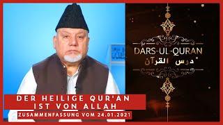 Der Heilige Qur'an ist von Allah   24.01.2021