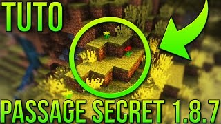 PASSAGE SECRET FACILE 1.8.7 | Minecraft