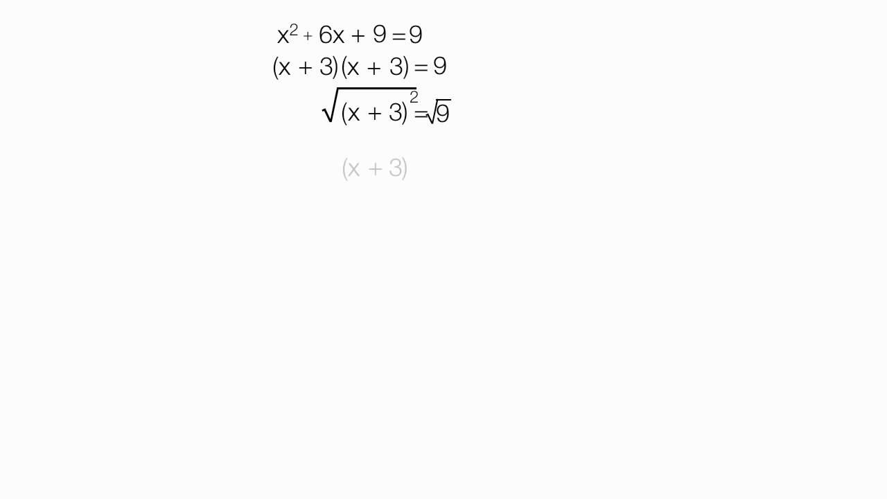 How Toplete The Square X Squared Plus 6x (3 Of 8)  Algebra