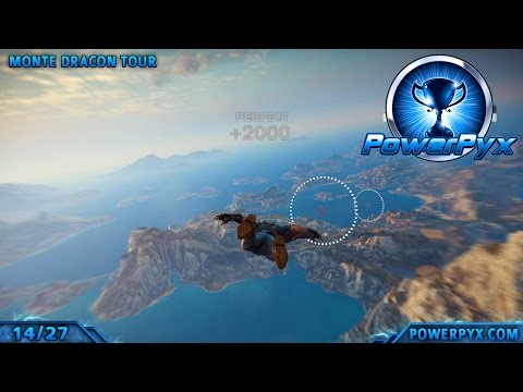 Just Cause 3 - 5 Gears in All Wingsuit Traversal Course Challenges - Walkthrough & Locations