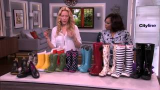 Take on April showers with hip rainboots