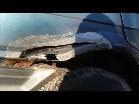 DIY Auto Body Hole Patching, quarter panel, floor, and door patch