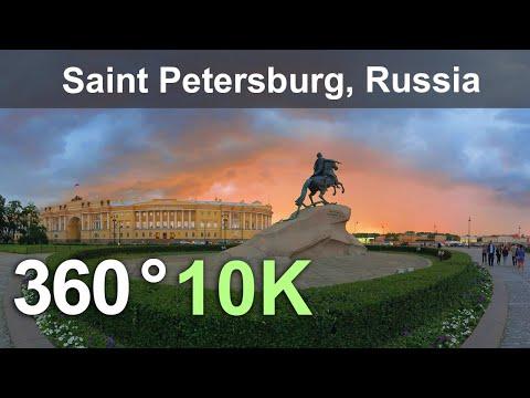 Санкт-Петербург, Россия. Виртуальное путешествие. 360 видео с воздуха в 10К