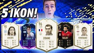 ZIDANE 96! 5 IKON W DRAFCIE! REKORD?! | FIFA 20