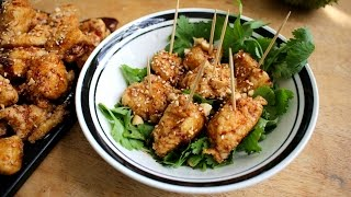 How to Make Korean Style Chicken Nuggets - Sweet & Spicy Recipe