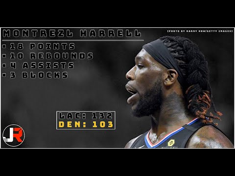 Underrated aspect of Harrell's game that could be utilized more with the Lakers: his passing (particularly off the short roll)