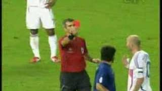 Zidane headbutts Materazzi - BEST ANGLE ***** thumbnail
