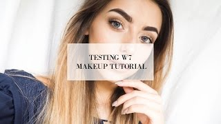 testing w7 makeup i cocochic