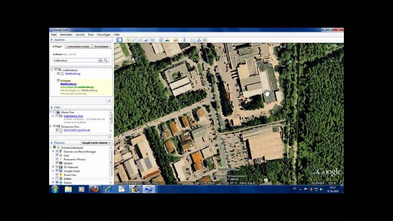 Waldkraiburg Google Earth Youtube
