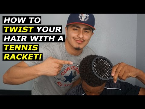 How to twist your hair with a TENNIS RACKET! l No twist sponge