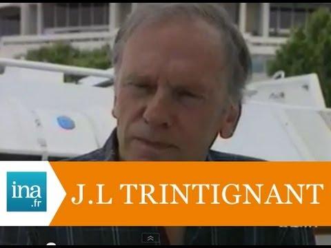 """Jean-Louis Trintignant présente """"Rouge"""" au Festival de Cannes - Archive vidéo INA"""