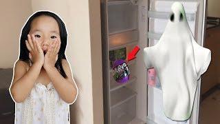 유령이 두고 간 고스트볼 찾기! 귀신이야기 장롱귀신 냉장고귀신 해골 무서운 서프라이즈 에그 개봉 장난감 놀이 숨바꼭질 놀이 GHOST EGG,Hide And Seek 리틀조이