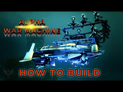 ARK GENESIS: ALPHA WAR MACHINE - HOW TO BUILD -  TEK HOVER SKIFF