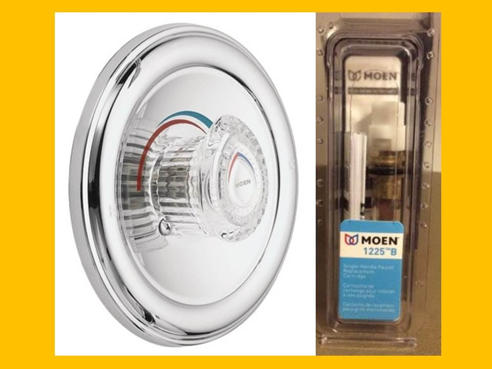 how to repair remove replace a leaking moen shower faucet cartridge valve with a single knob 1225