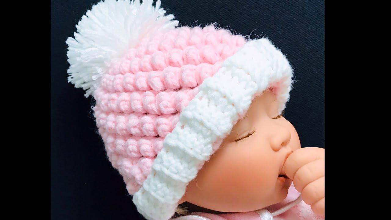 Gorro a crochet o ganchillo para bebe, gorrito para niños y niñas a crochet, Crochet for Baby