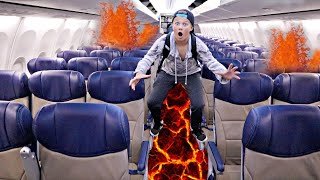 THE FLOOR IS LAVA on an AIRPLANE!