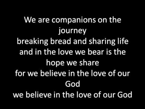 Companions on the journey (version 2) with lyrics - YouTube