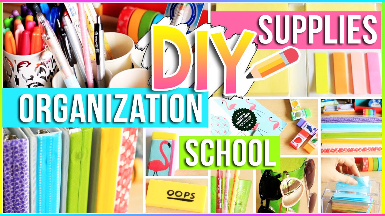 Diy School Supplies Organization Ideas For Your Room Easy Diy Projects You Need To Try 2017 2018