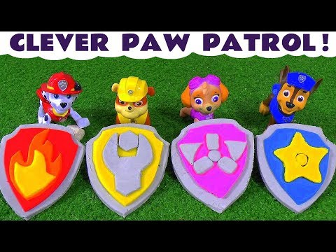 Paw Patrol Play Doh Stop Motion Badges and Logos with Thomas and Friends and Peppa Pig Toys TT4U