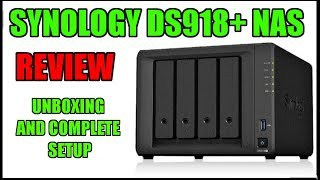 Synology DS918+ Diskstation NAS Complete Review - Unboxing and Setup!!