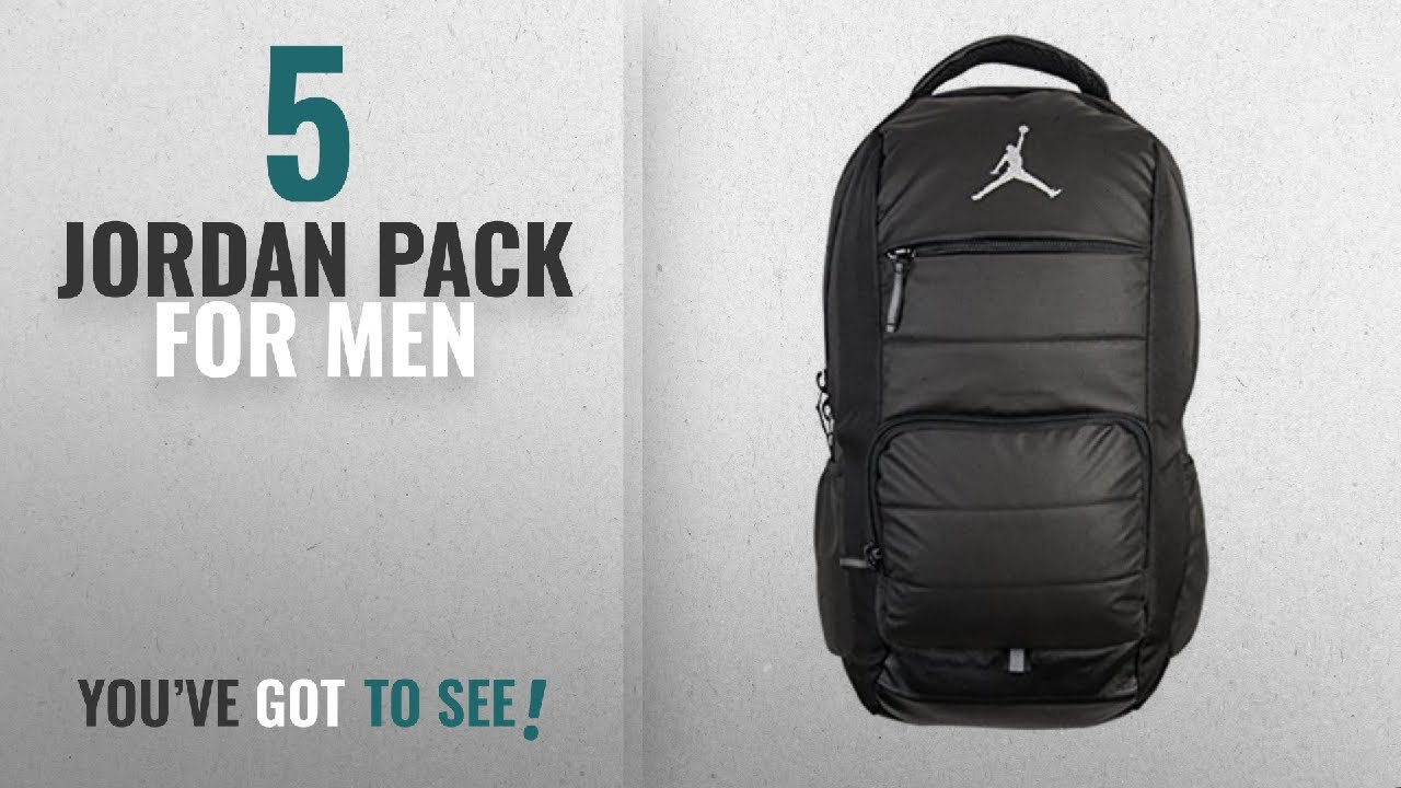 8c5ba7e36b Top 10 Jordan Pack  2018    Jordan Unisex All World Backpack Black ...