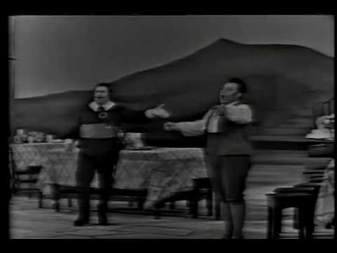 Giuseppe Taddei & Carlo Begonzi - Duetto ... L'elisir d'amore  1967 Firenze