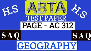 Download ABTA test paper | Geography SAQ | Page AC 312