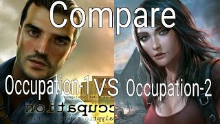 Occupation-1 VS Occupation-2 [Compare]