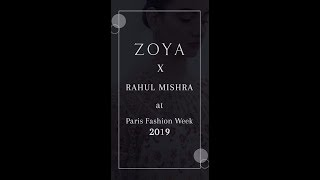 ZoyaXRahul Mishra at Paris Fashion Week 2019