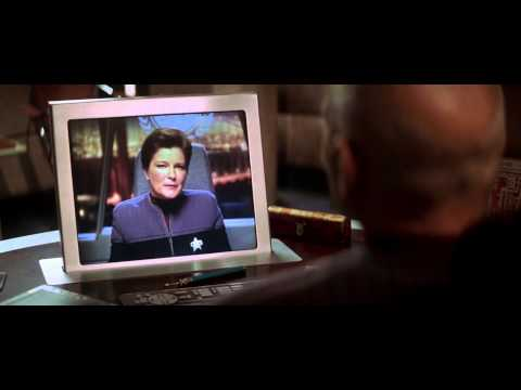 """Star Trek: Nemesis"": Admiral Janeway contacts Captain Picard [HD]"