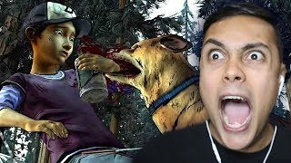 CLEMENTINE GETS ATTACKED BY A DOG (The Walking Dead Season 2)