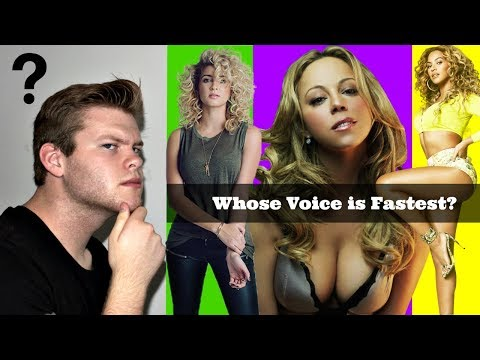 WHOSE VOICE IS FASTEST? | Mariah Carey, Tori Kelly, or Beyonce
