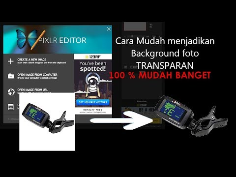 Cara Mengubah Background Foto Jadi Transparan.