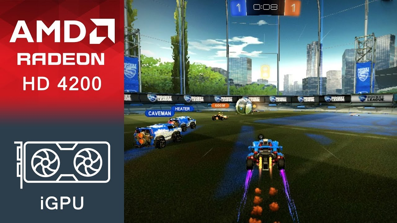Rocket League Gameplay AMD Radeon HD 4200