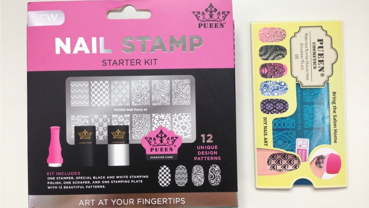 Nail Stamping Kit By Pueen 1st Impression - YouTube