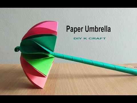 How to Make Easy an Amazing Paper Umbrella | DIY K Craft