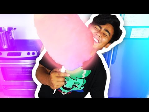 GLOW IN THE DARK COTTON CANDY?!??