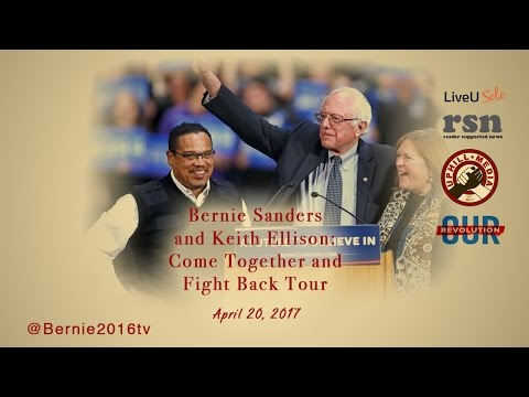 Bernie Sanders & Keith Ellison - Baxter Arena, Omaha Nebraska -Come Together & Fight Back Tour 2017