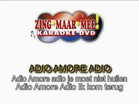 Jannes  - Adio amore adio ( KARAOKE ) Lyrics