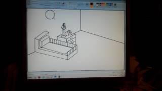 Рисунок в PAINT интерьер гостиной. Урок 4.