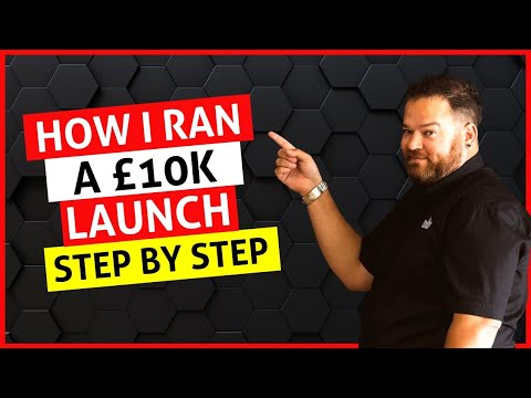 How I Ran a £10K Launch Step By Step