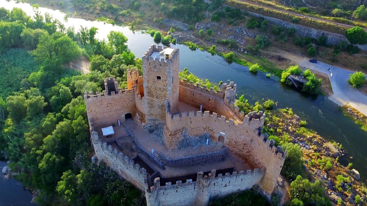 Castelo De Almourol 4k Vídeo Aéreo Descobrindo Portugal Norte A Sul Youtube