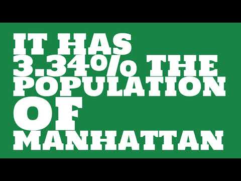 How does the population of North Port, FL compare to Manhattan?