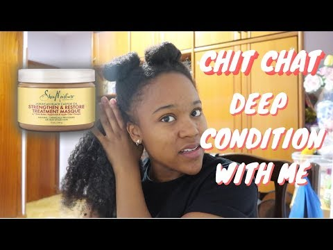 is my youtube dying? chit chat deep condition with me! (type 4 natural hair)